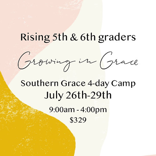 Rising 5th & 6th Grade    4-Day Camp