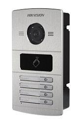 DS-KV8402-IM, 4 beldrukkers, IR verlichting