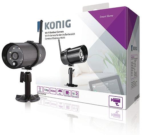 Wi-Fi outdoor-camera HD IP66 zwart voor SAS-CLALAR