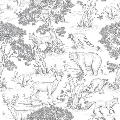 Animals White Wallpaper