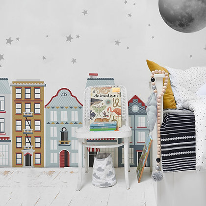 Life In The City Behind-The-Bed Wallsticker