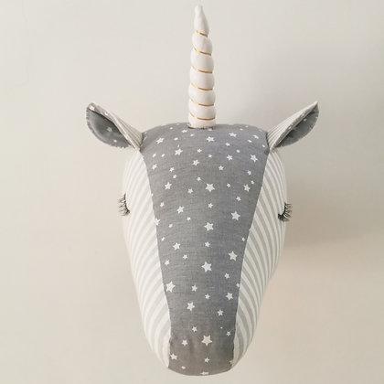 Grey Unicorn (διαθέσιμο μόνο με ασημί κέρατο)