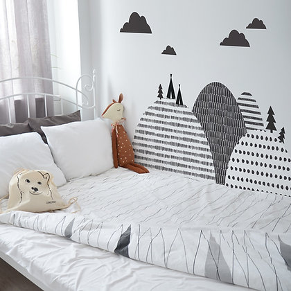 Northern Mountains Behind-The-Bed Wallsticker