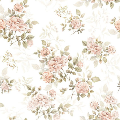 Vintage Rose Pattern Wallpaper