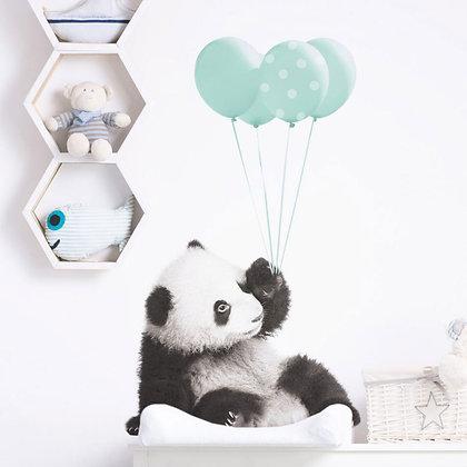 Panda Mint Balloons Wallsticker