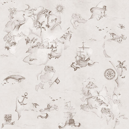 Map Stories From The Sea Sepia Wallpaper