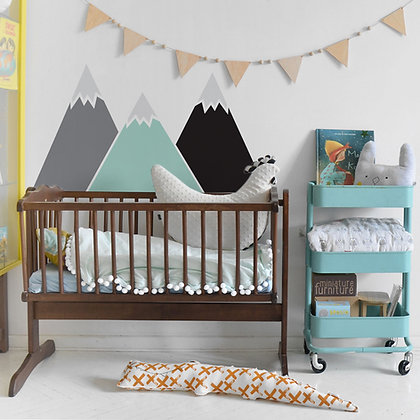 Mountains Pastel Behind-The-Bed Wallsticker