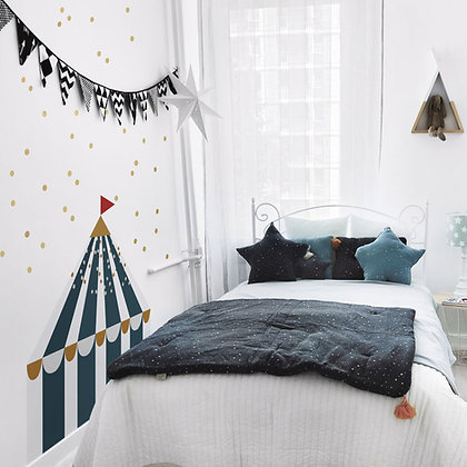Circus Navy Blue Behind-The-Bed Wallsticker
