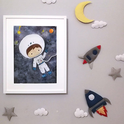 Spacecraft wall decoration set