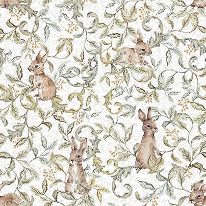 Rabbits Groove Light Wallpaper