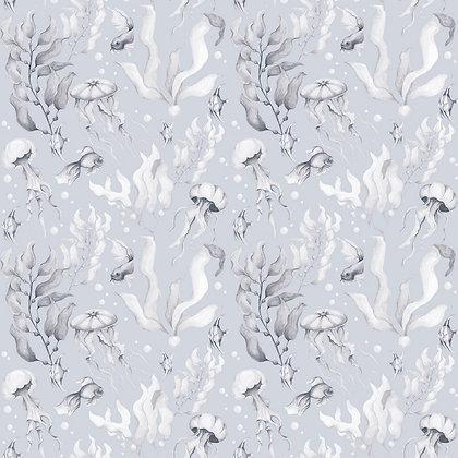 Magic Of The Ocean Creamy Blue Small Wallpaper