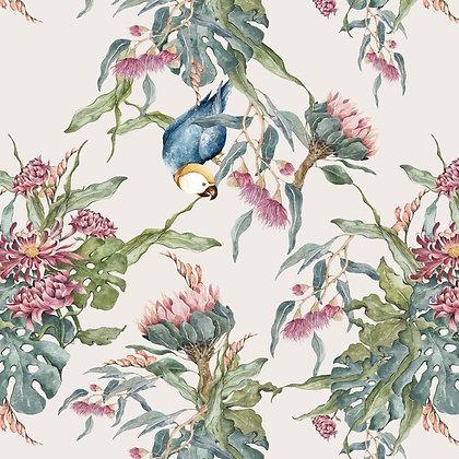 Tropical Parrots Wallpaper