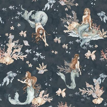 Mermaids In Sea Depths Wallpaper