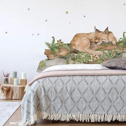 Sleep My Little Wild Cat Behind-The-Bed Wallsticker