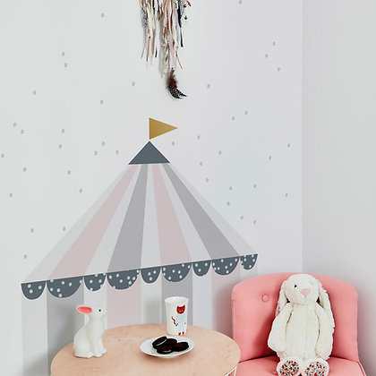 Circus Pastel Behind-The-Bed Wallsticker