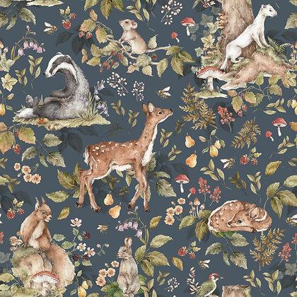 Cute forrest animals Dark wallpaper