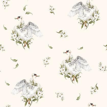 Swans Romantic Wallpaper