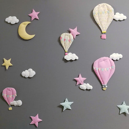 Hot airballon wall deco