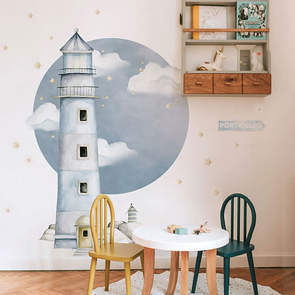 Lighthouse Porticello Behind-The-Bed Wallsticker