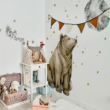 Mr. Bear Good Night Wallsticker