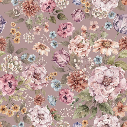 Bouquet of flowers- lilac wallpaper