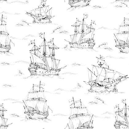 Black&White Ships Wallpaper