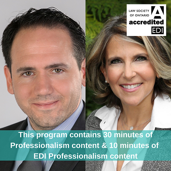 Ep 8 Professionalism for In-house Lawyers Judy Naiberg & Fernando Garcia