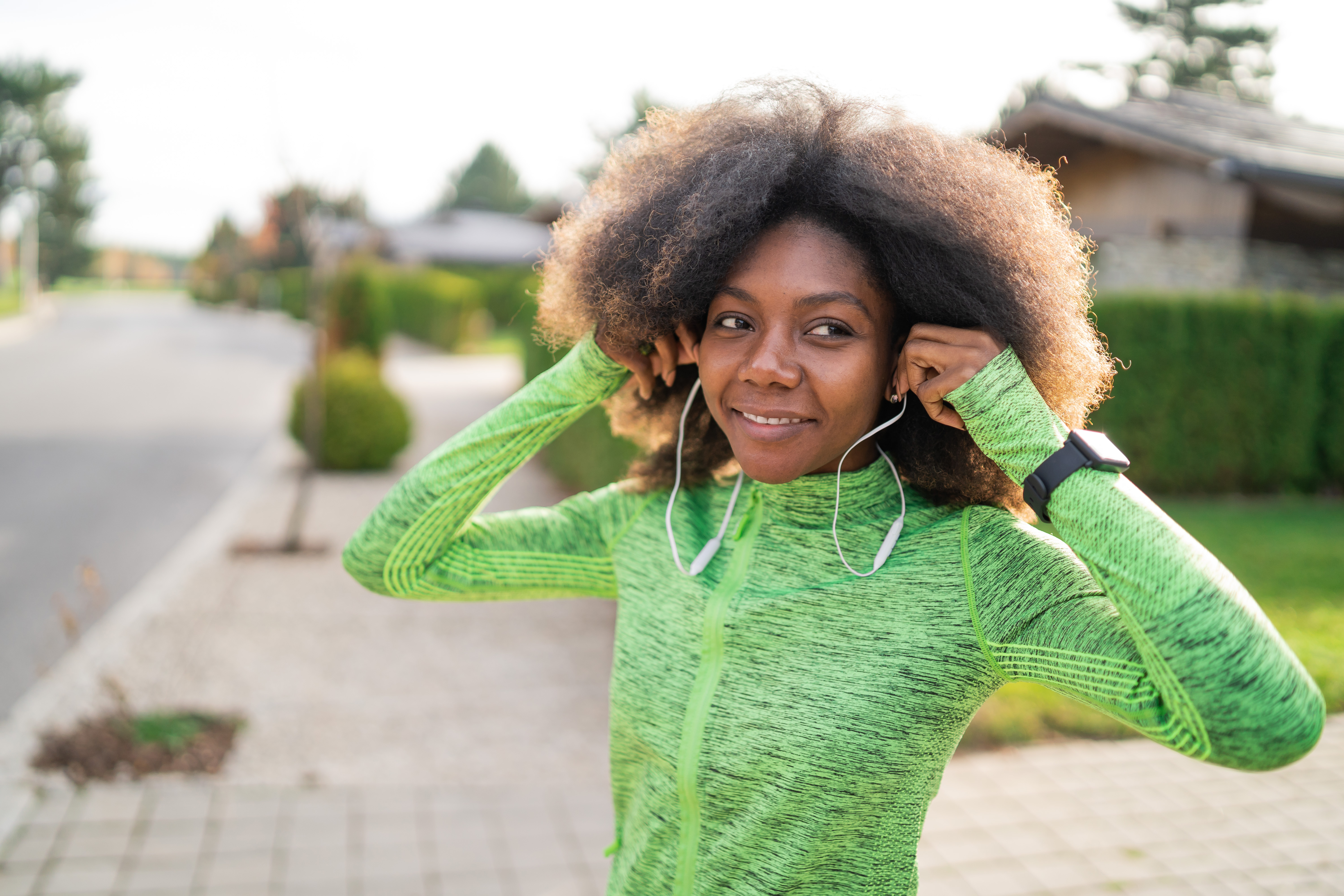 Smiling Green Afro