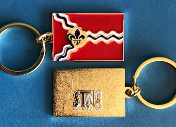 St. Louis Flag Keychain