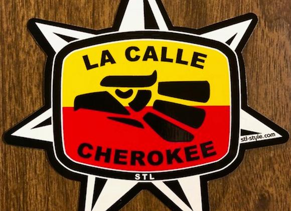 La Calle Cherokee Sticker