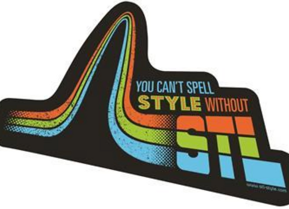 You can't spell STYLE without STL sticker