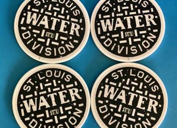 St. Louis Water Meter Coaster