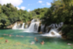 Krka waterfalls, Adriatic sea, Skradin, Croatia