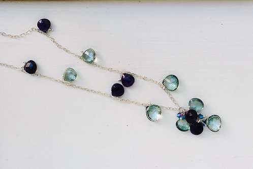 Amethyst & Quartz Queen's Necklace