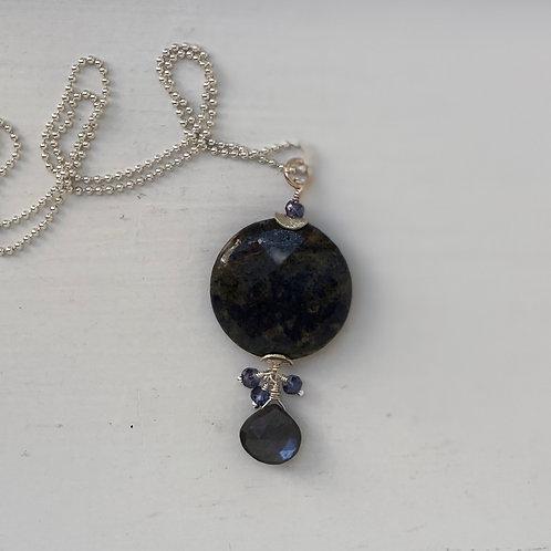 Sodalite & Moonstone Pendant Necklace