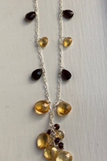 Citrine & Garnet Queen's Necklace