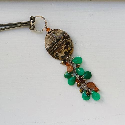 Jasper Chrysoprase Pendant Necklace