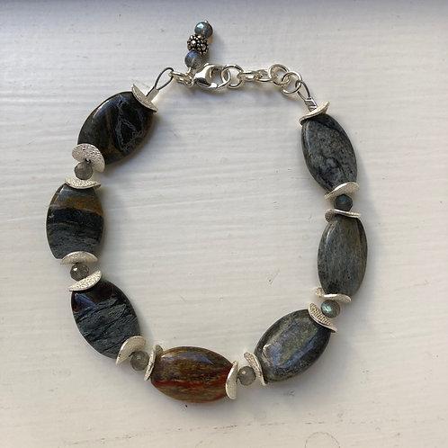 Jasper & Labradorite Bracelet