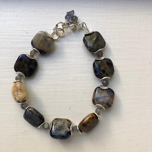 Sodalite & Labradorite Bracelet