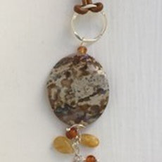 Jasper and Honey Kyanite Pendant Necklace