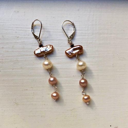Blush Pearl Drop Earrings
