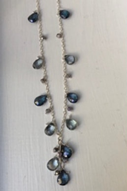 Teal & Green Quartz Queen's Necklace