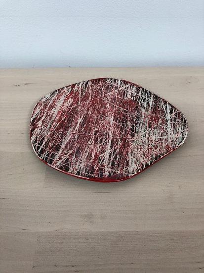 Madeline Herbert handmade sgraffito dish