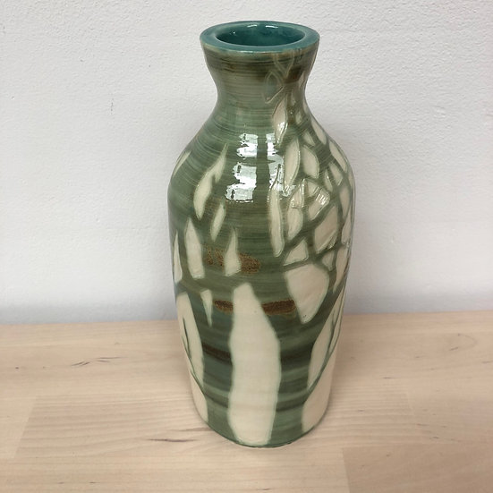 Jonquil Cook Hand thrown sgraffito vessel