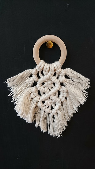 Small Macrame Decoration - Moon and Star