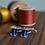 Thumbnail: Blue reel cufflinks in sterling silver
