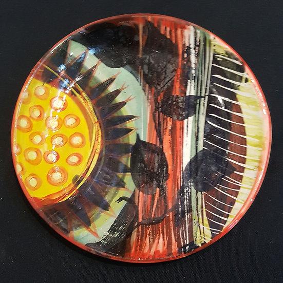 Sunflower dish and plant design round dish - Madeline Herbert