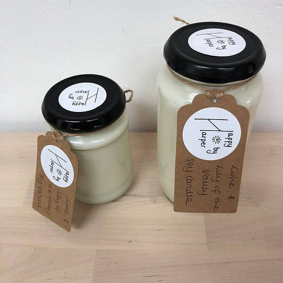 Happy by Harper Soy Candle Duo in Lime & Lily of the Valley
