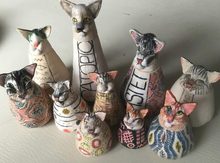 Catopic. Ceramic Ornamental Pots - Dinah Gosnell
