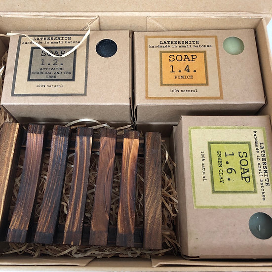 Lathersmith soap gift box set